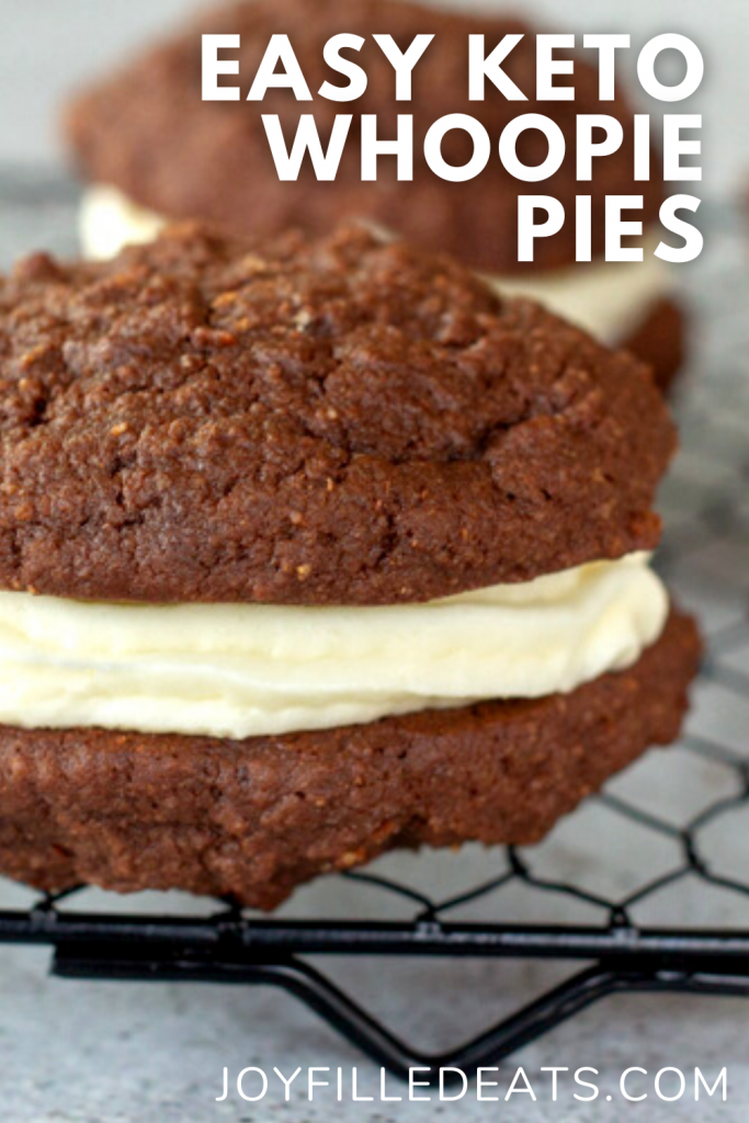 pinterest image for keto chocolate cookies