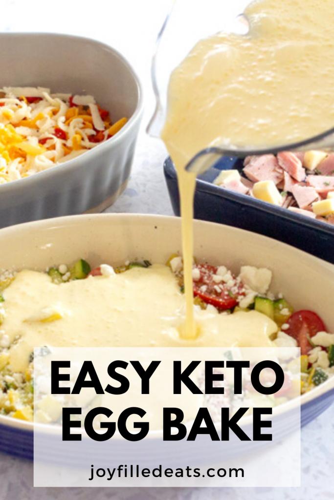 pinterest image for keto egg bake with cream cheese