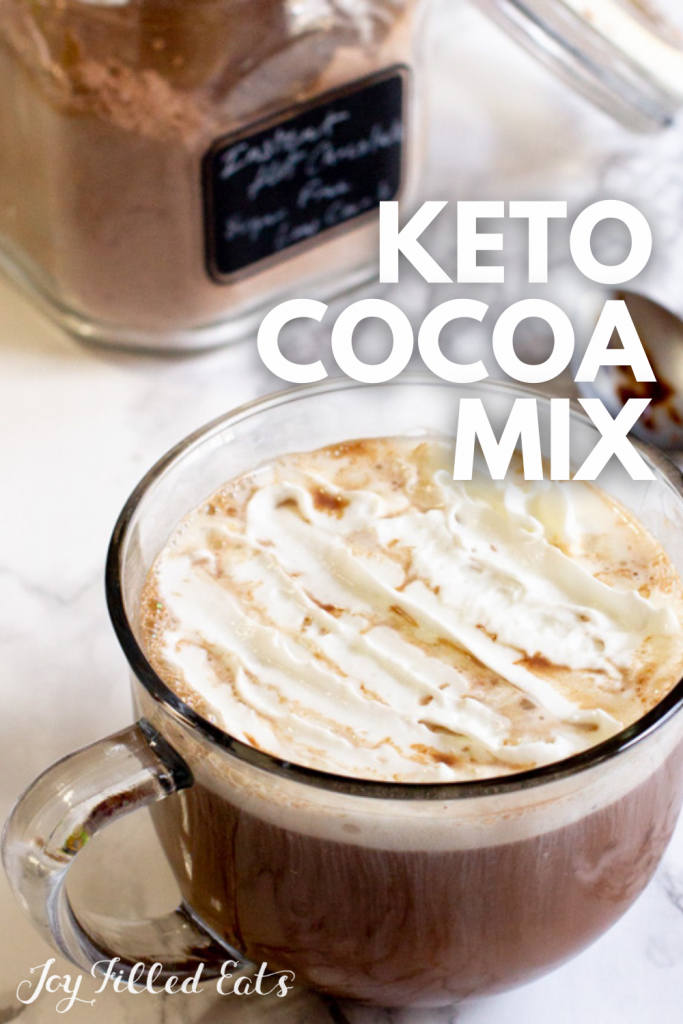 pinterest image for keto instant hot chocolate mix