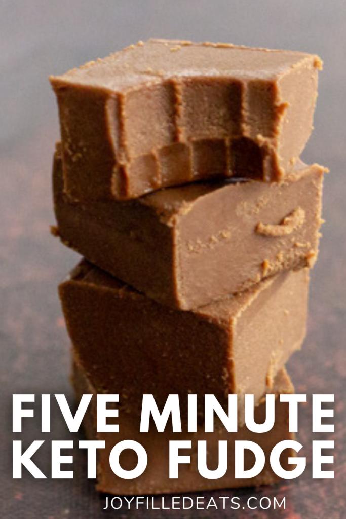 pinterest image for keto chocolate fudge