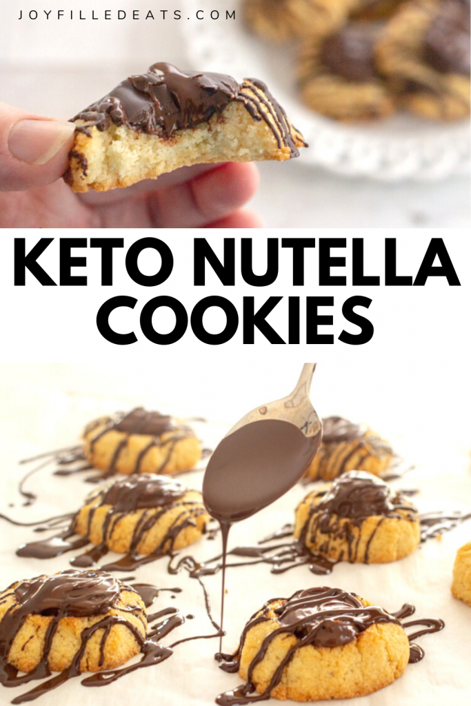 pinterest image for keto nutella cookies