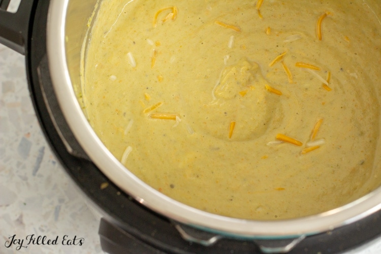 pureed soup in the instant pot