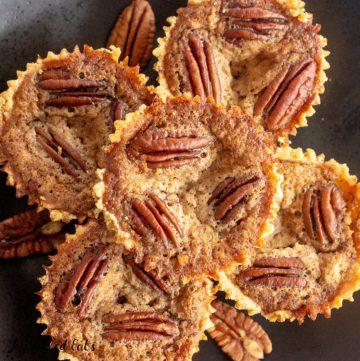 pile of mini low carb pecan pies