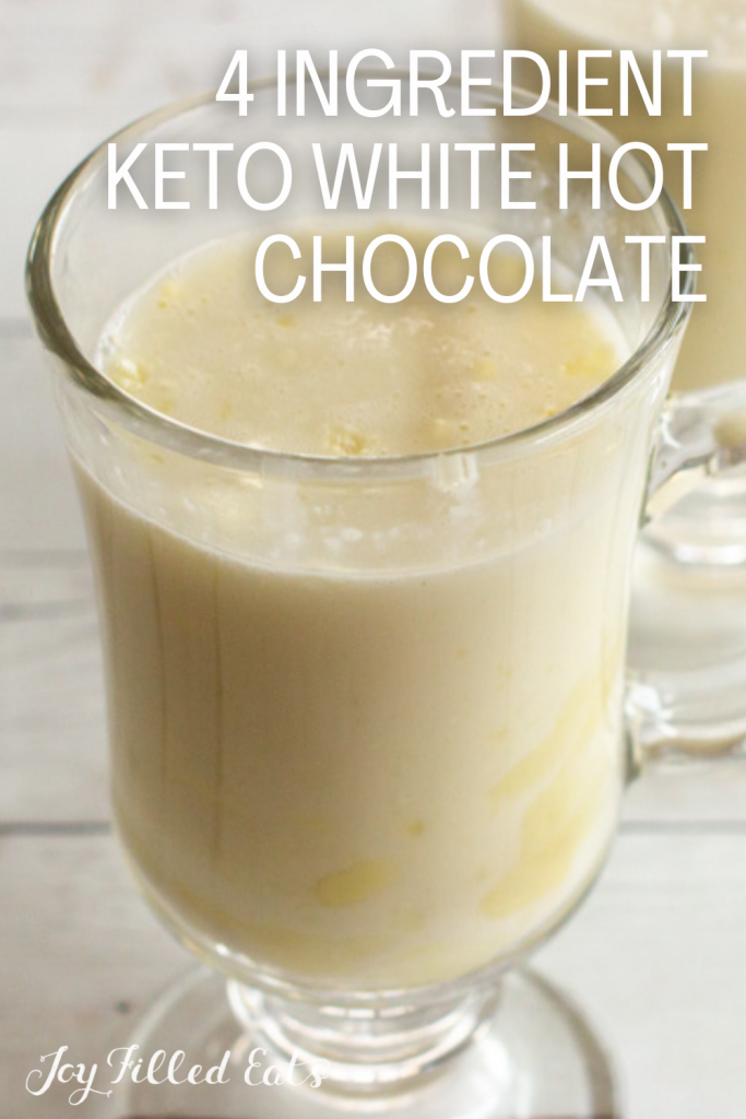 pinterest image for white hot chocolate mix