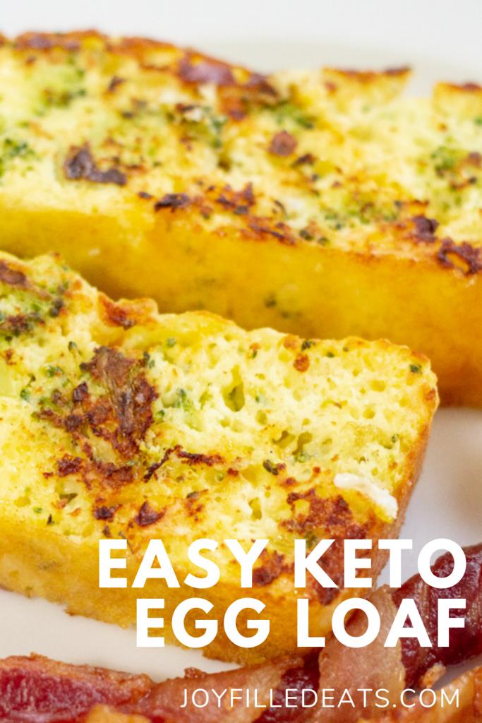 pinterest image for keto egg loaf