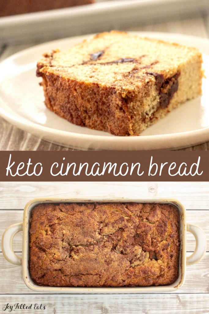 pinterest image for keto cinnamon bread