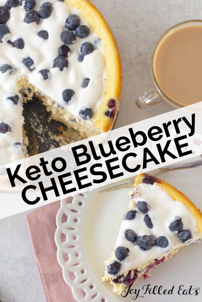 pinterest image keto blueberry cheesecake