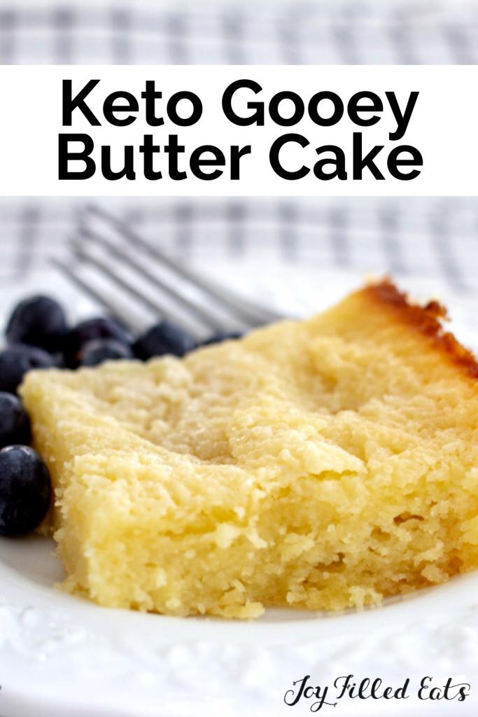 pinterest image for keto butter cake