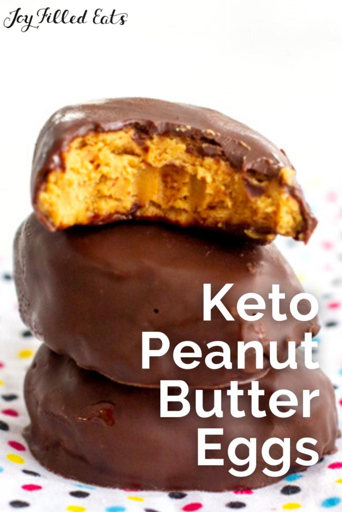 Pinterest Image for Keto Peanut Butter Eggs