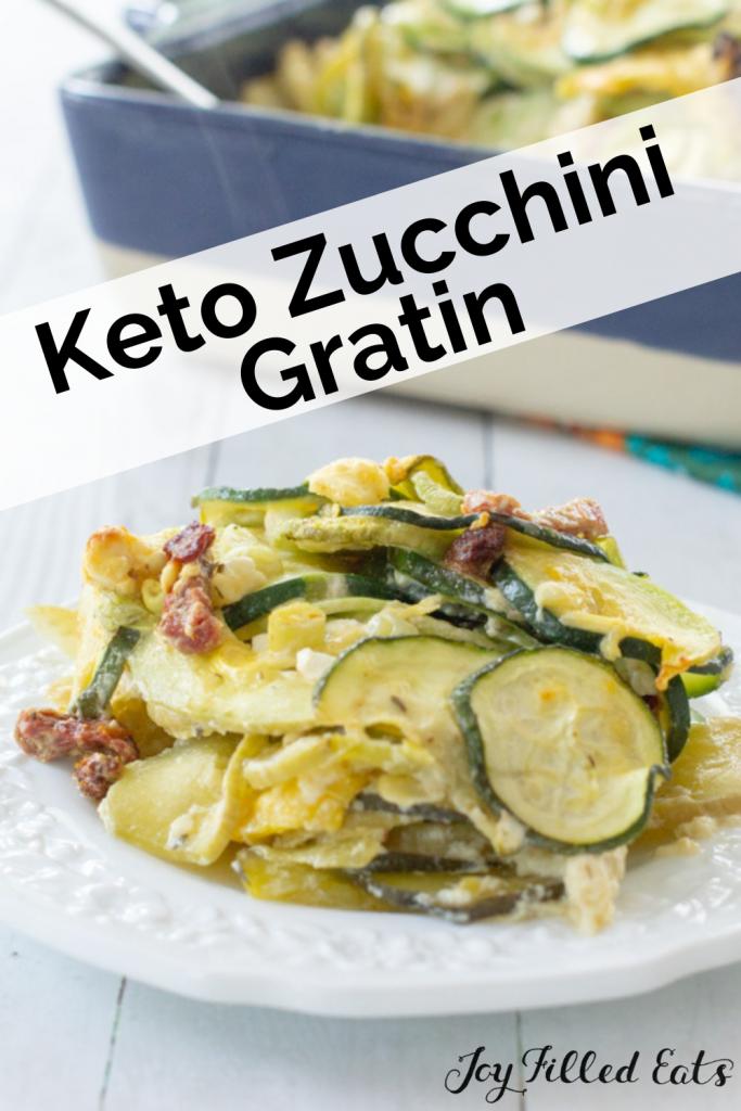 pinterest image for Keto Zucchini Gratin
