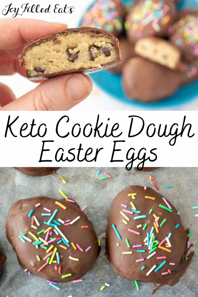 Pinterest Image for Sugar Free Cookie Dough Eggs
