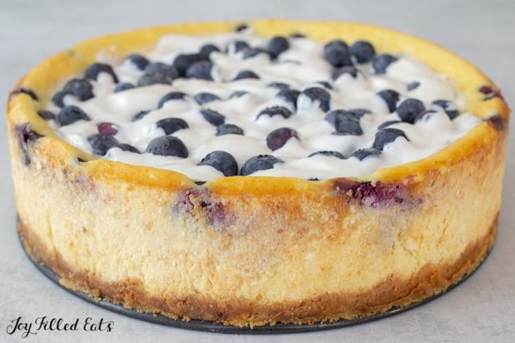 entire keto blueberry cheesecake