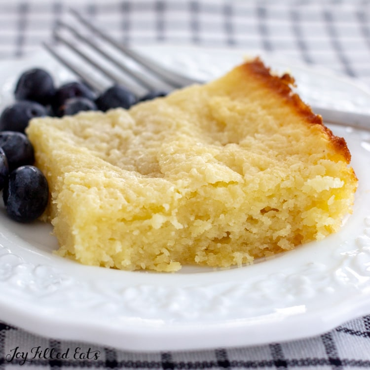slice of butter cake on a plate