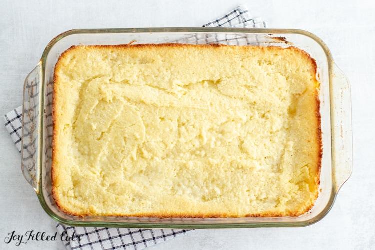 overhead shot of the keto butter cake