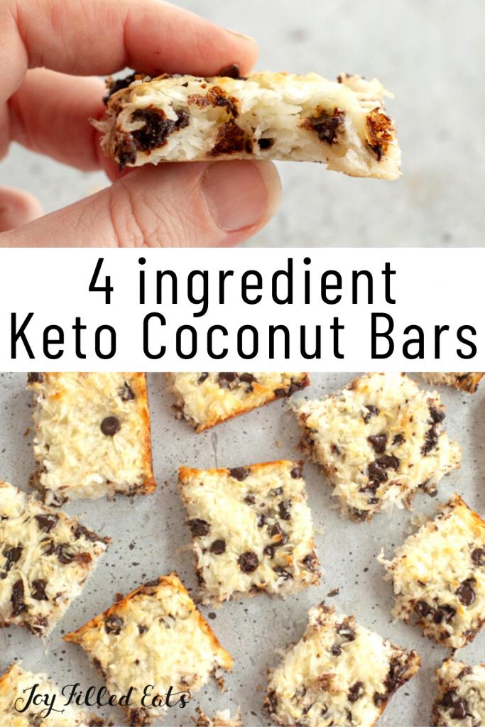 pinterest image for keto coconut bars