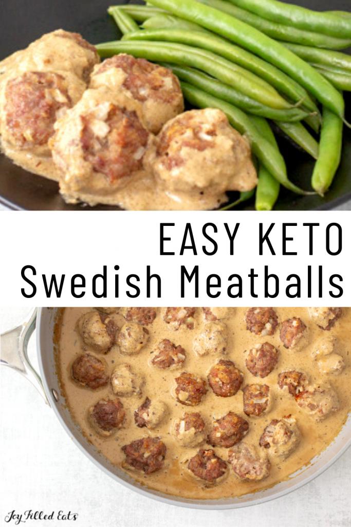 pinterest image for keto swedish meatballs