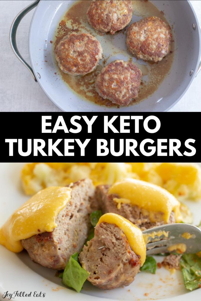 pinterest image for keto turkey burgers