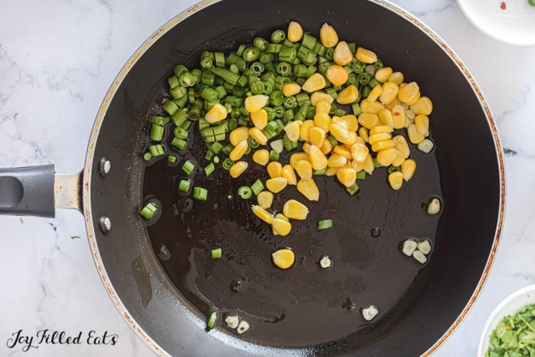 corn in the skillet