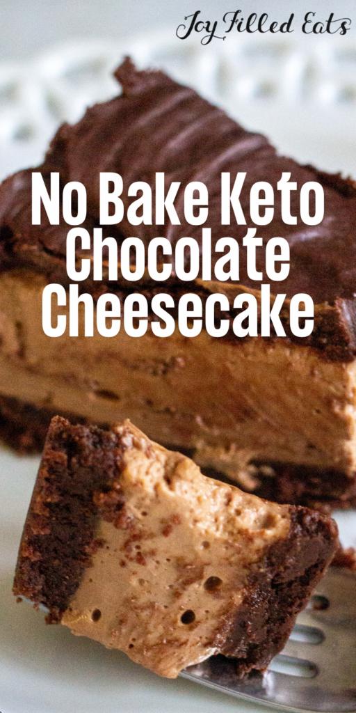 pinterest image for Keto Chocolate Cheesecake