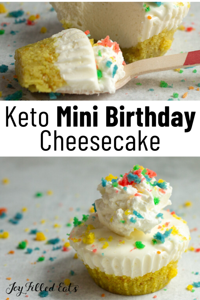 pinterest image for keto mini cheesecake