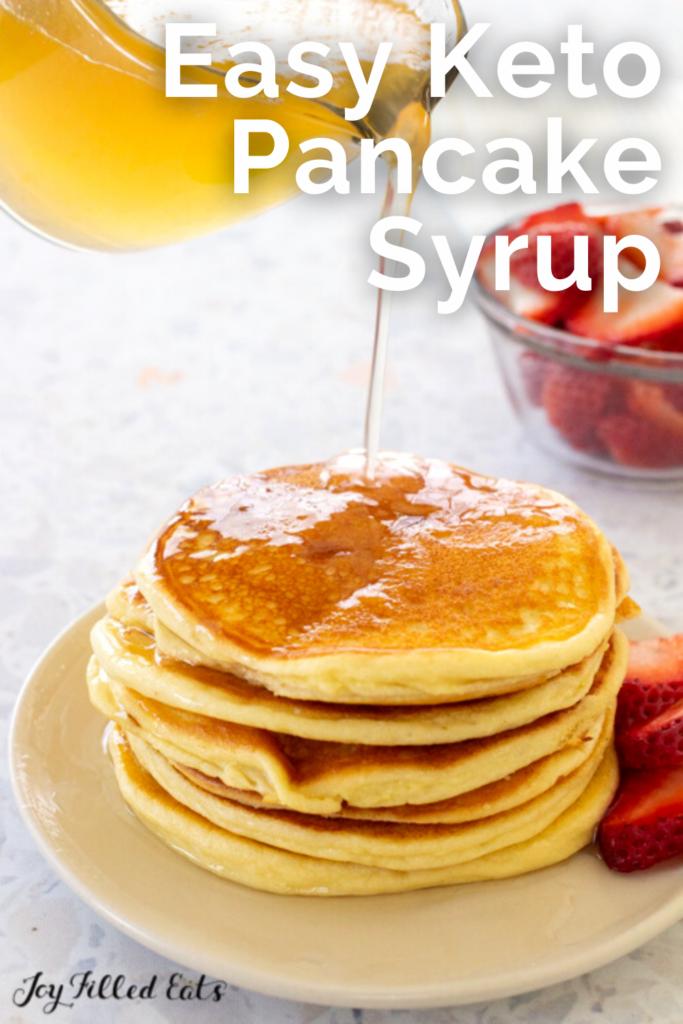 pinterest image for keto pancake syrup