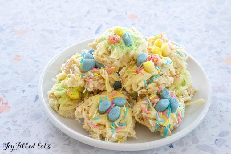 plate of keto easter cookies