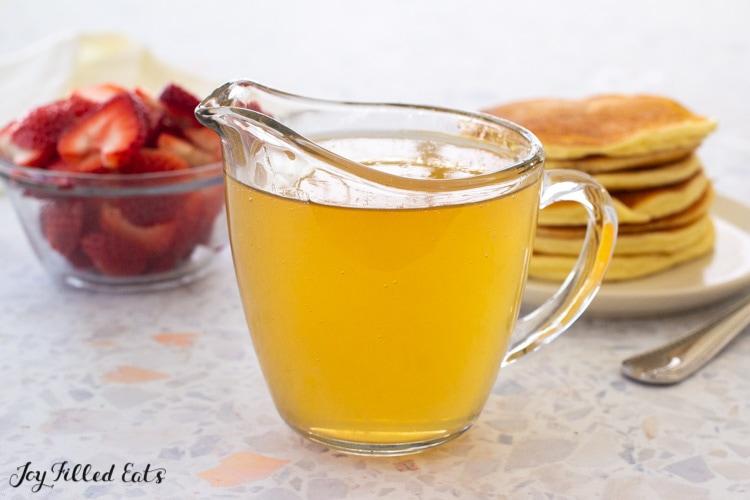 small pitcher of keto pancake syrup