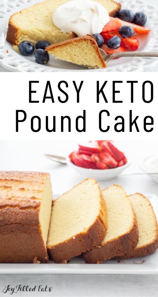 Pinterest Image for Keto Pound Cake