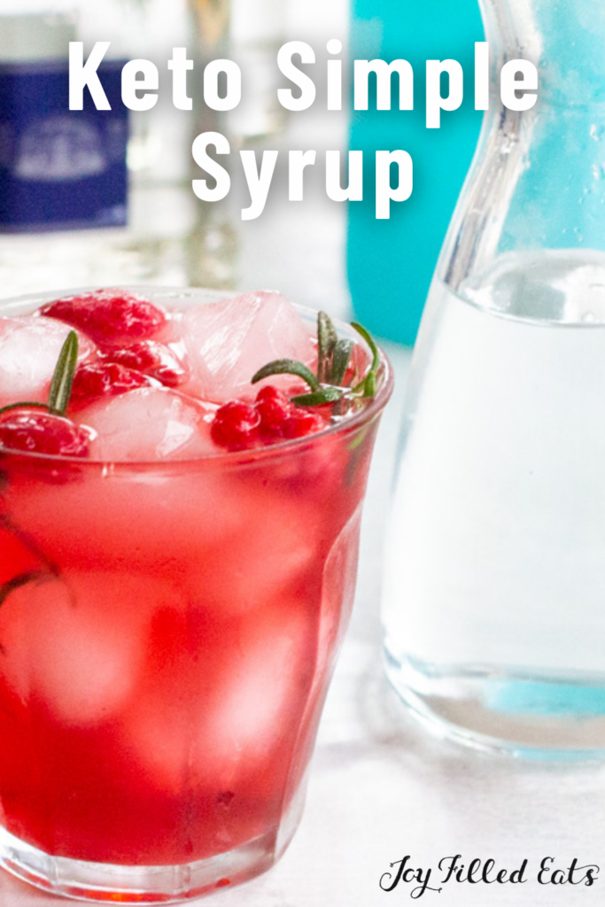 pinterest image for keto simple syrup