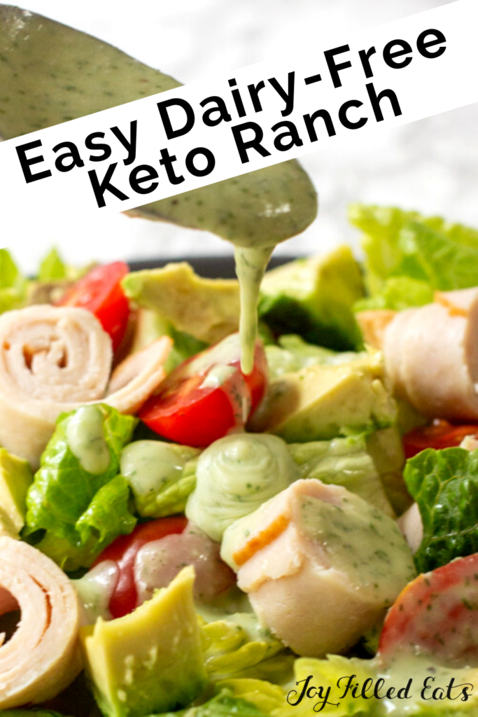 pinterest image for dairy-free ranch dressing recipe