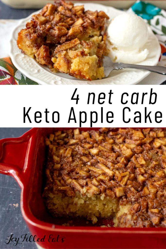 pinterest image of keto apple cake