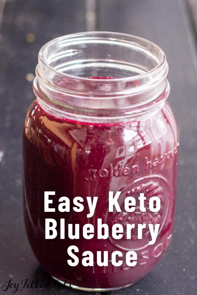 pinterest image for keto blueberry sauce