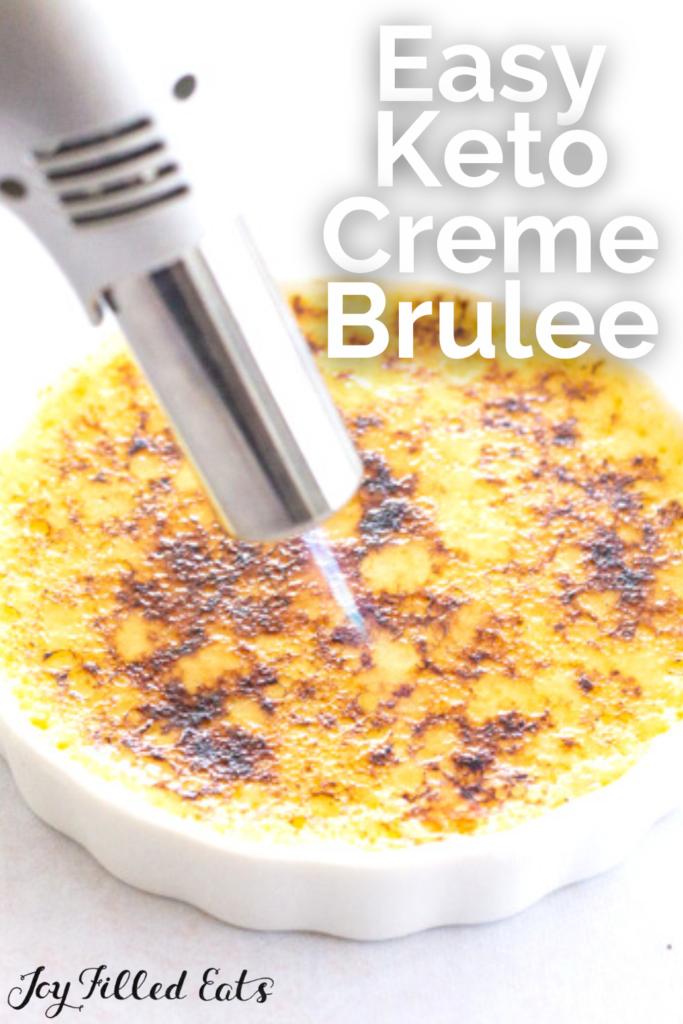 pinterest image for keto creme brulee