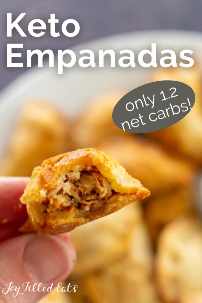 pinterest image for keto empanadas