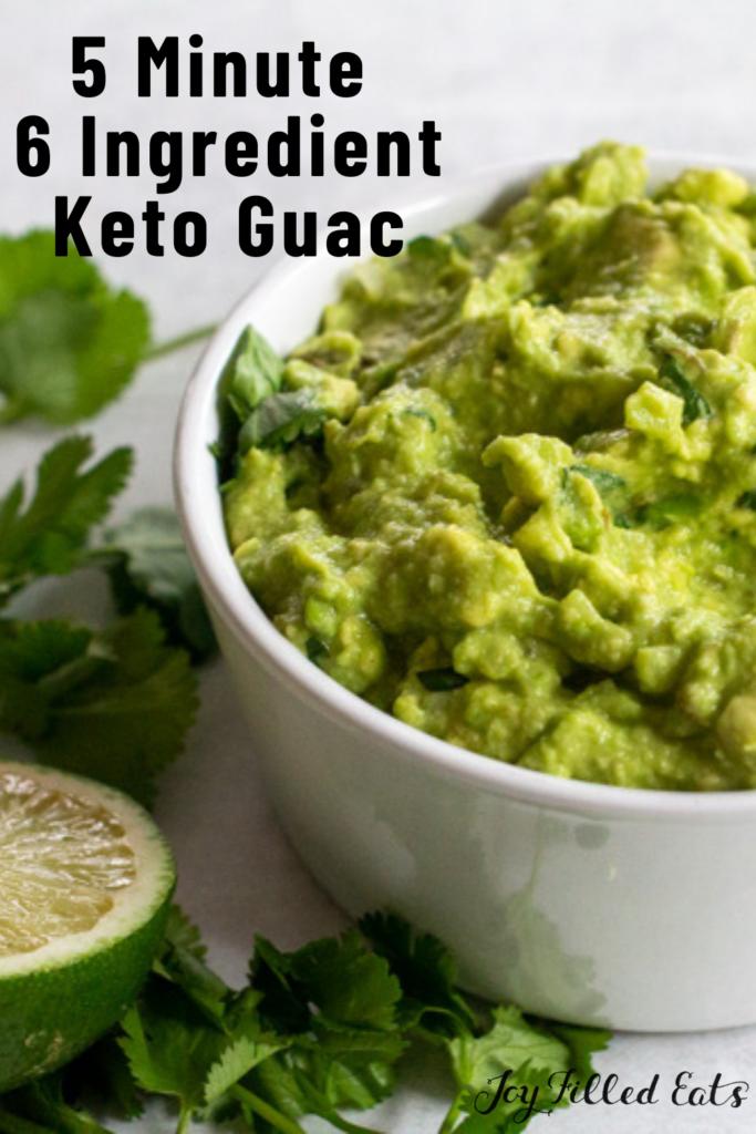 pinterest image for keto guacamole