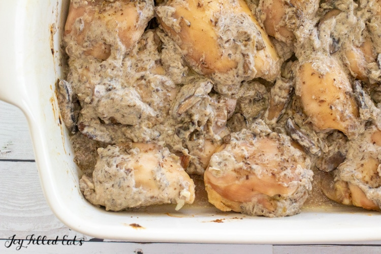 chicken topped with keto mushroom sauce