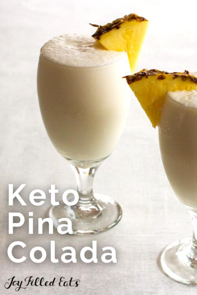 pinterest image for keto pina colada