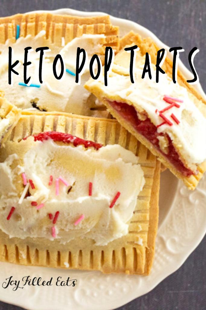 pinterest image for keto pop tarts