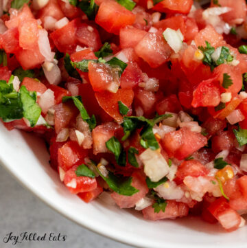 close up of keto salsa