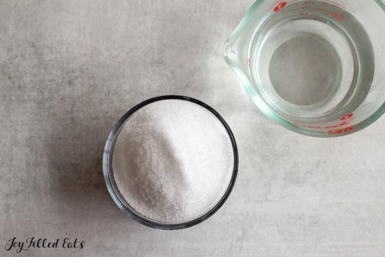 small bowl of sweetener