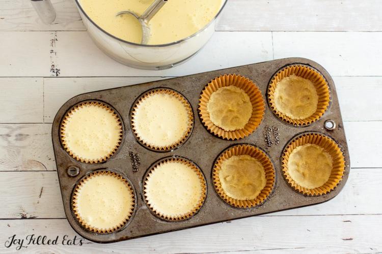 crust in cupcake liners