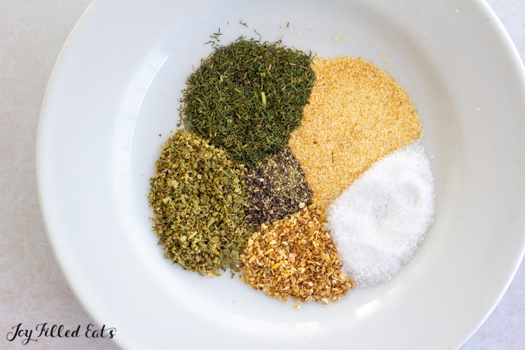 spices on a small plate