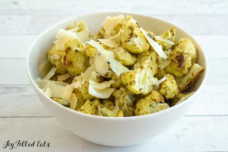 bowl of pesto cauliflower