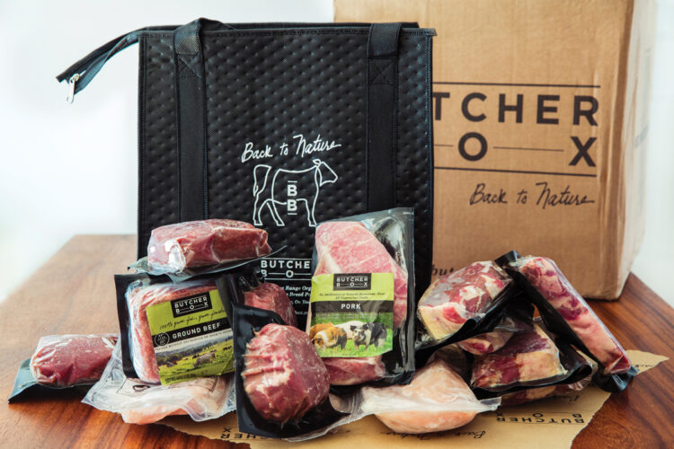 organic meat delivery example shown