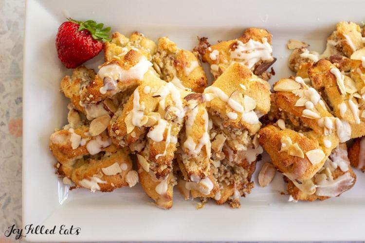 platter of almond bear claws