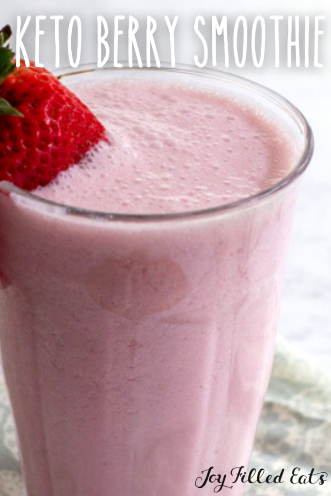 pinterest image for keto berry smoothie