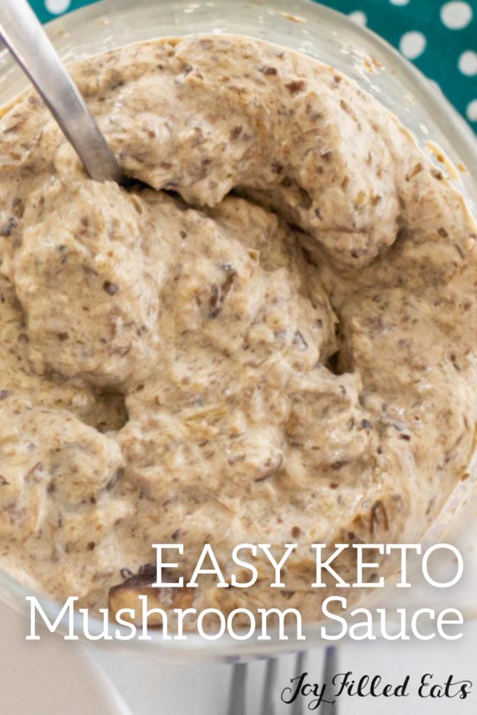pinterest image for keto mushroom sauce