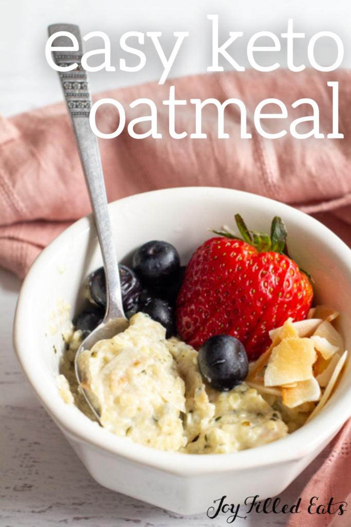 pinterest image for keto oatmeal