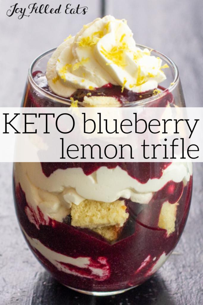 pinterest image for keto trifle