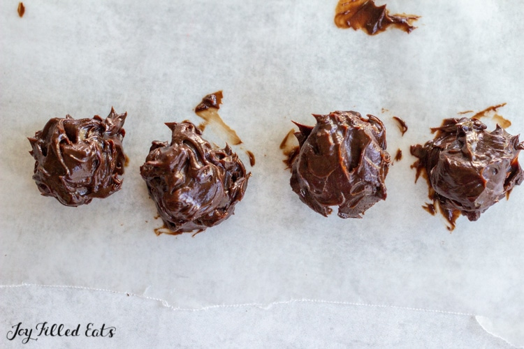 truffles on waxed paper